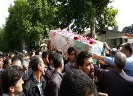 پیکر مطهر شهید مرزبانی در رامیان گلستان تشییع شد