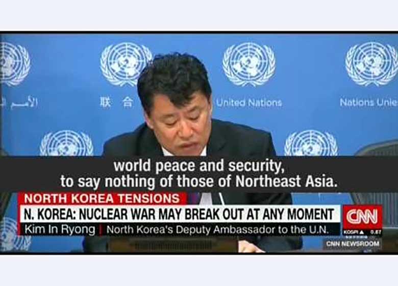 سفیر کره شمالی در سازمان ملل از احتمال جنگ هسته ای خبر داد