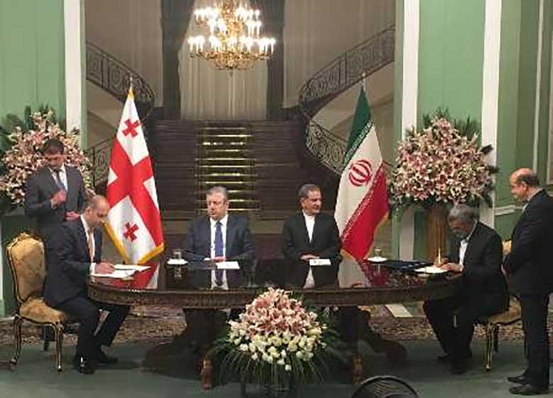 ایران و گرجستان سه یادداشت تفاهم همکاری امضا کردند