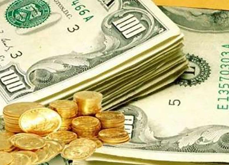 کاهش قیمت دلار و افزایش قیمت سکه در بازار آزاد تهران