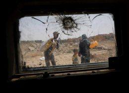 تصاویر : شهر ویرانهای که از چنگال داعشیها نجات مییابد