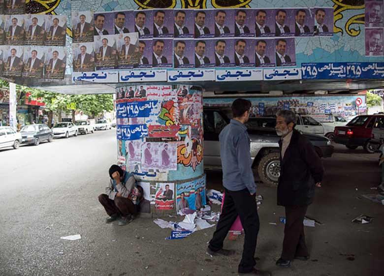 پاکسازی چهره تهران از تبلیغات انتخاباتی در ۱۲ ساعت