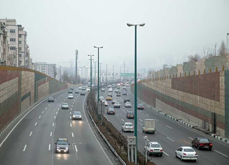 هوای ناسالم تهران بر اثر گرد و غبار