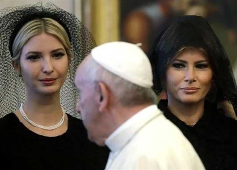 چرا زن و دختر ترامپ در واتیکان مشکی پوش شدند؟!