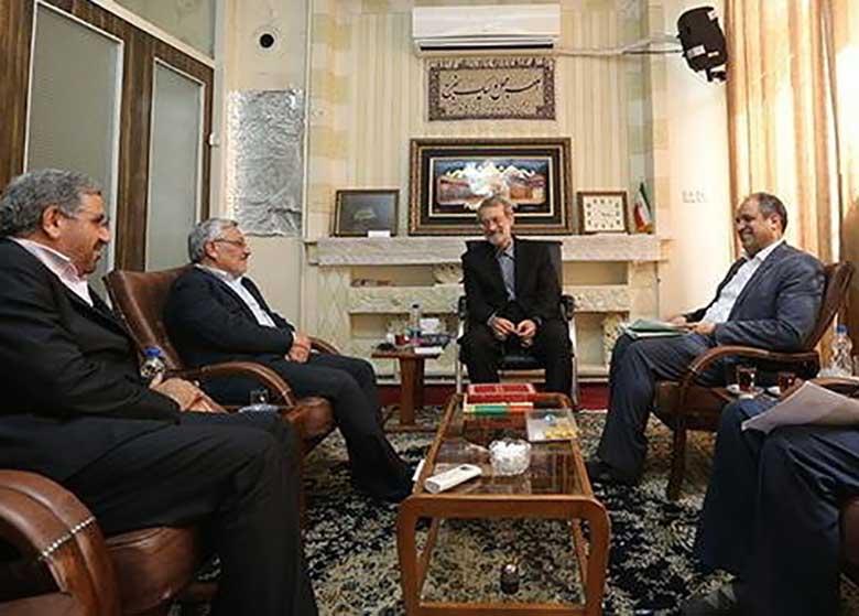 دیدار اعضای هیأت مرکزی نظارت بر انتخابات شوراها با لاریجانی