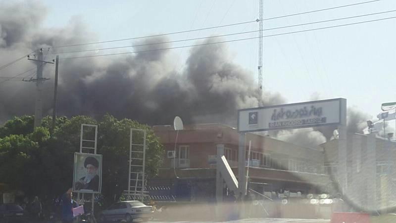 آتش سوزی ایران خودرو