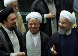 تصویری متفاوت از آیتالله هاشمی، روحانی و سیدحسن خمینی