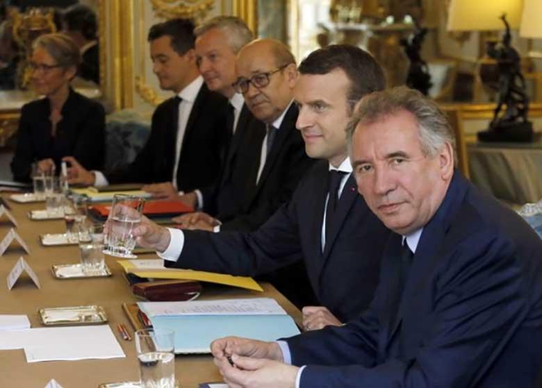 اولین جلسه کابینه جدید فرانسه برگزار شد