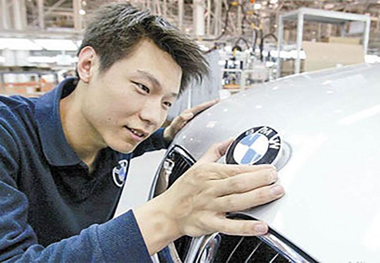 توقف تولید ب ام و در چین