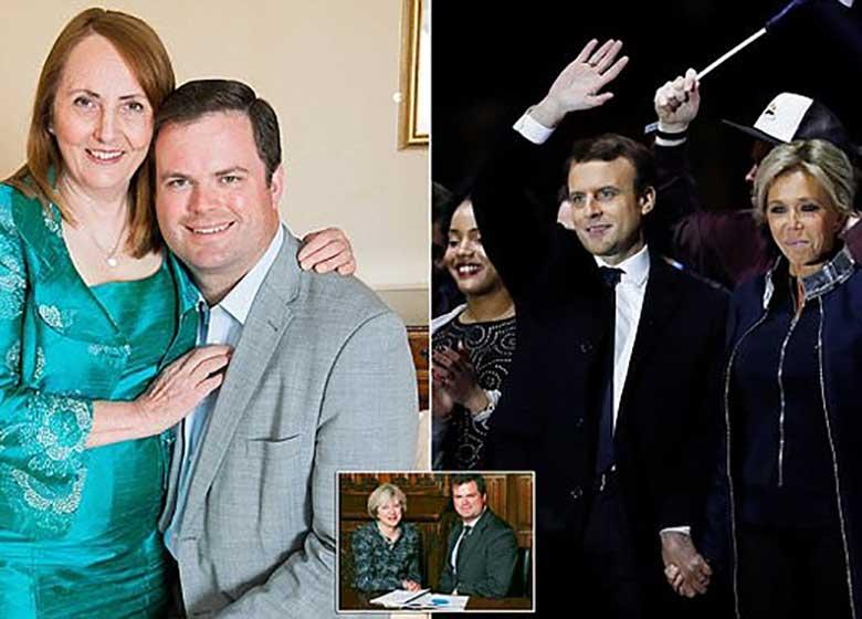 سیاستمداری که ۲۸ سال از زنش کوچکتر است
