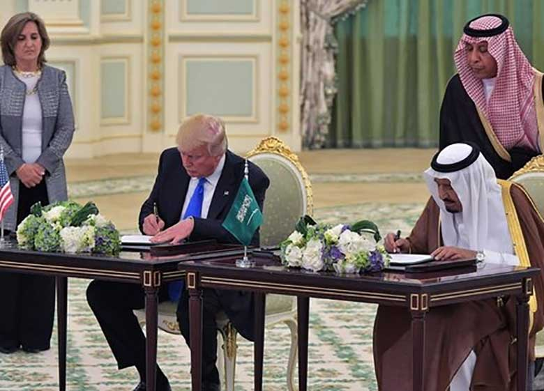 سفر ترامپ برای سرکیسه کردن کشورهای عربی است