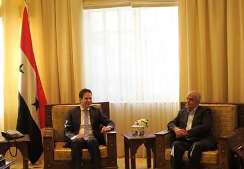 دیدار رئیس کمیته توسعه همکاری های اقتصادی ایران با وزیرگردشگری سوریه