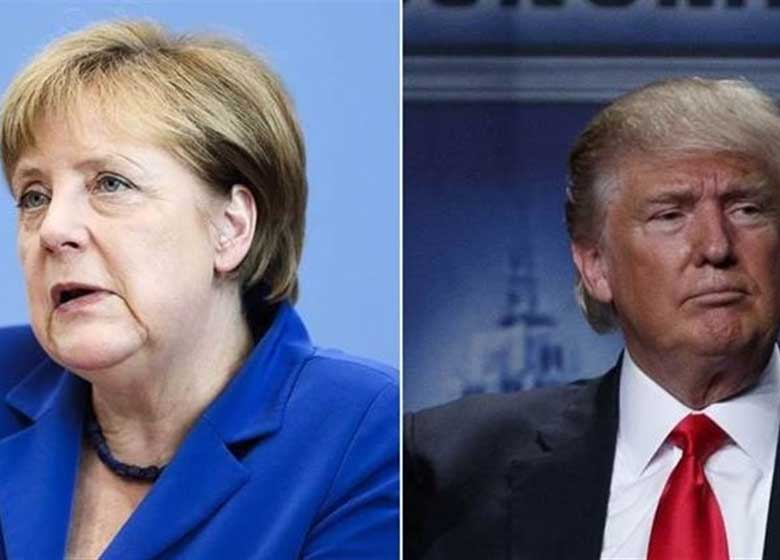 اکثر شهروندان آلمانی از موضع گیری جنجالی مرکل در مقابل ترامپ حمایت میکنند