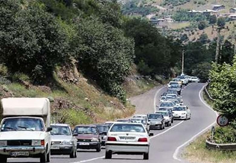 کاهش تردد در جاده های کشور