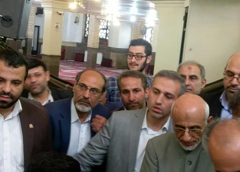 حضور میرسلیم در مسجد قبا