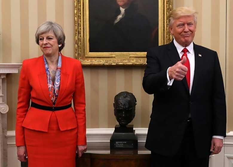 ترزا می به همدستی با ترامپ علیه اروپا متهم شد