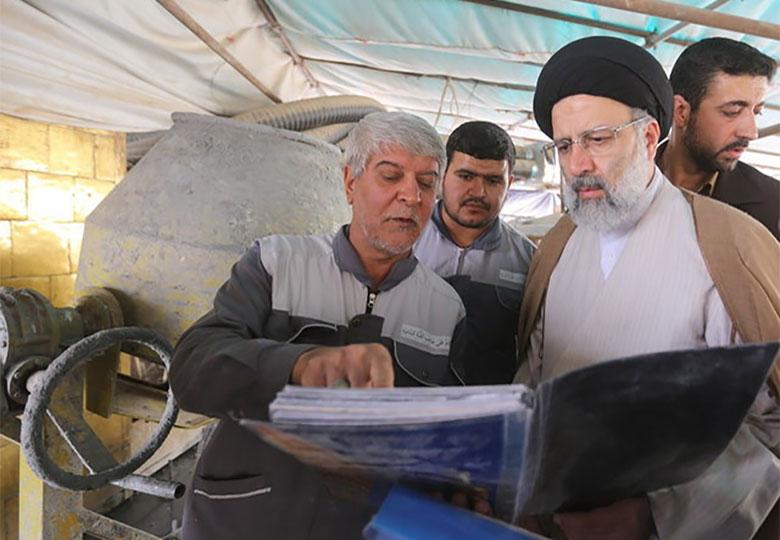 بازدید «رییسی» از پروژه مقاومسازی حرم امامحسین (ع)