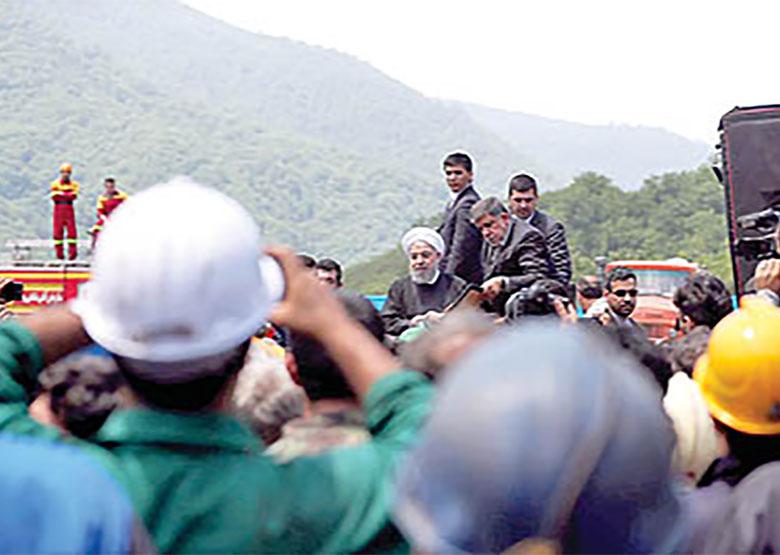 دو نگاه به اعتراض معدنکاران در حضور رئیسجمهور