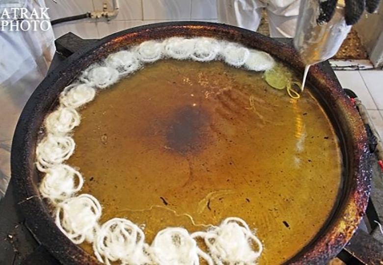 طبخ زولبیا و بامیه با شربت معده