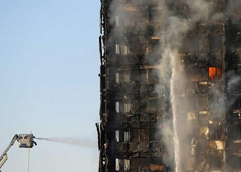 پلیس لندن تصاویری از داخل برج سوخته گرنفل منتشر کرد