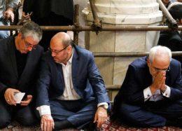 حضور سیاسیون در مراسم ختم شهدای حادثه تروریستی تهران