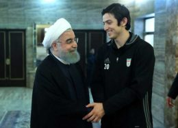 گزارش تصویری دیدار بازیکنان تیم ملی فوتبال با روحانی