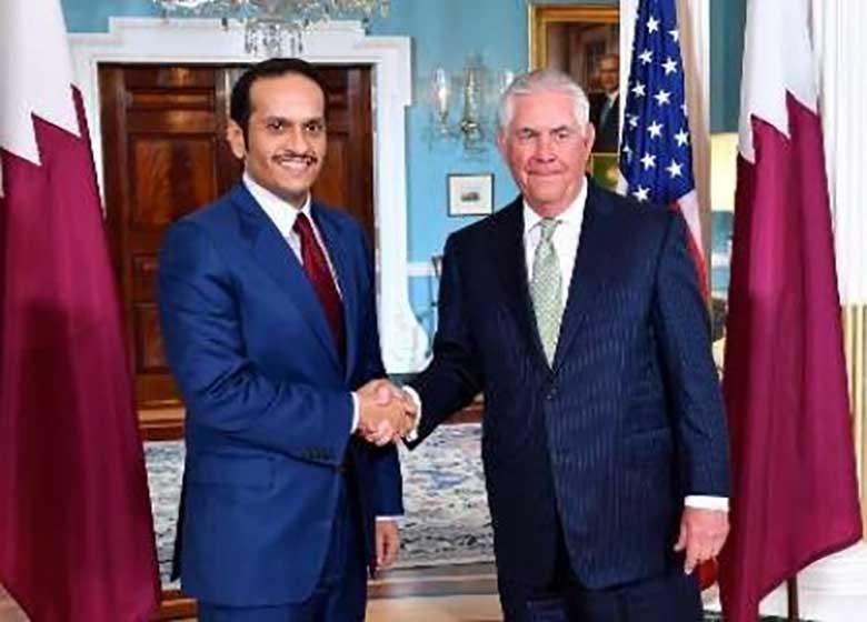 وزیر خارجه قطر: دیدار با تیلرسون مثبت بود