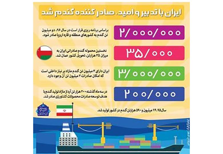 ایران صادرکننده گندم شد +اینفوگرافیک