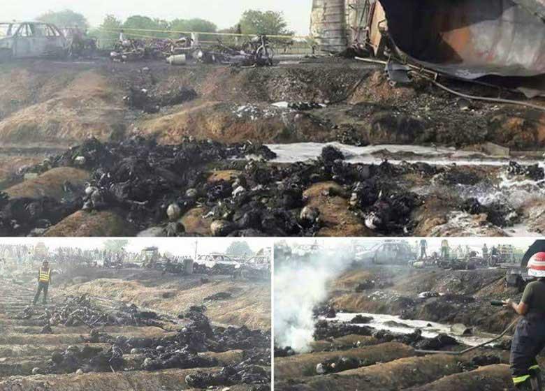 جزییات حادثه دلخراش واژگونی تانکر در پاکستان