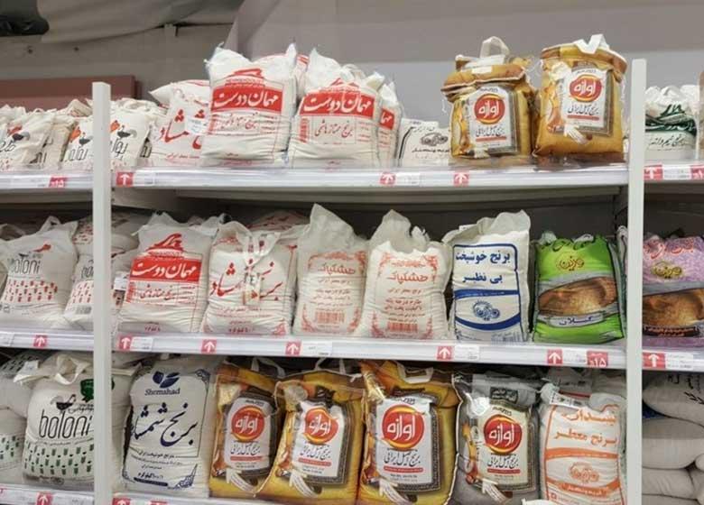 گرانفروشی برنج ایرانی در یکی از هایپرهای معروف تهران