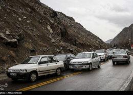 ترافیک چالوس همچنان پرحجم