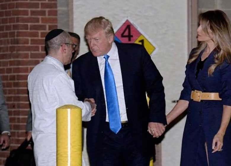 عیادت ترامپ و همسرش از نماینده مجروح