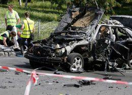 انفجار خودروی بمبگذاریشده در اوکراین + ویدئو