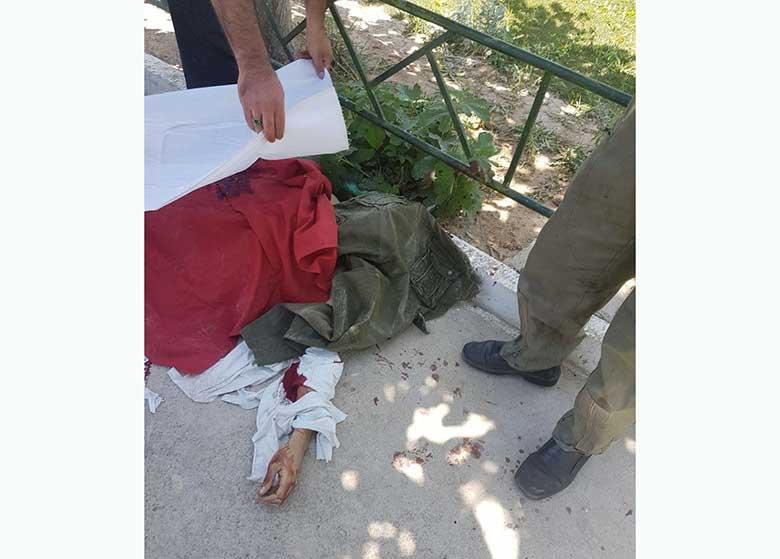 تصاویر هلاکت تروریست انتحاری و تجهیزات کشفشده