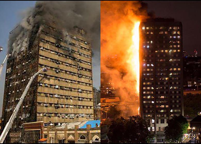 مقایسه آتشسوزی برج گرنفل لندن و پلاسکوی تهران