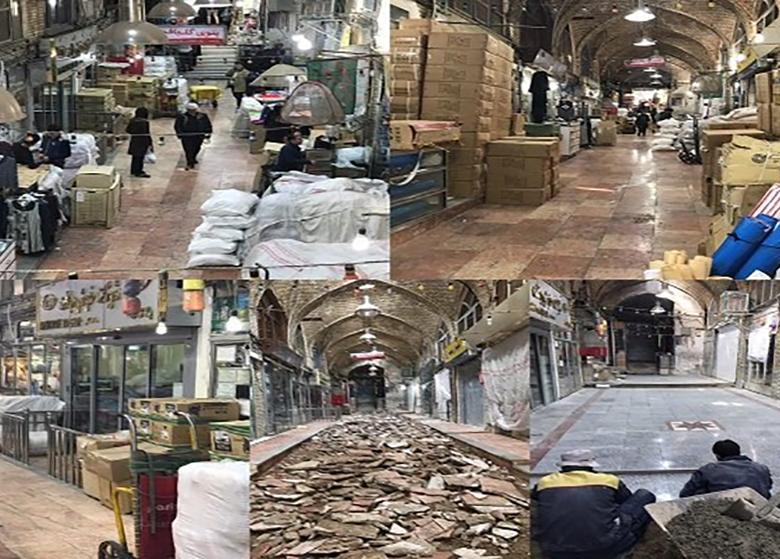 مرمت بازار ابراهیمخان با مشارکت میراث فرهنگی و کسبه تمام شد