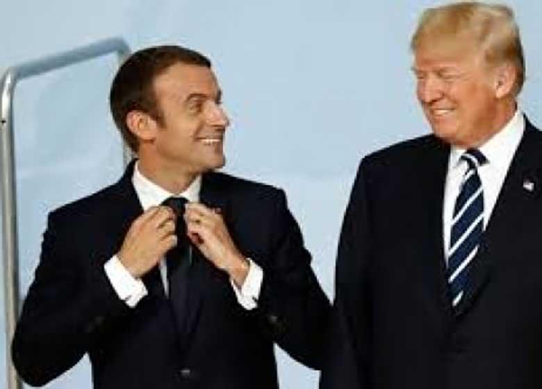 ترامپ: ایران تهدیدی مشترک برای آمریکا و فرانسه است/ ماکرون: رویکرد فرانسه عوض شده؛ رفتن اسد دیگر پیششرط ما نیست