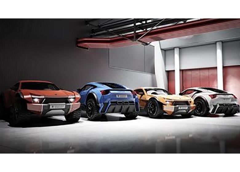 ترکیب یک شاسی بلند و ابر خودرو +تصاویر