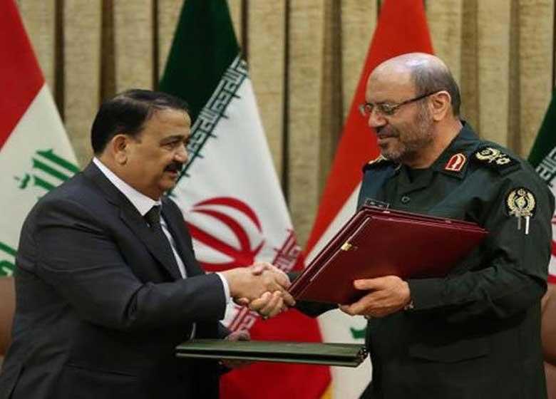 امضای یادداشت تفاهم همکاری دفاعی- نظامی میان ایران و عراق