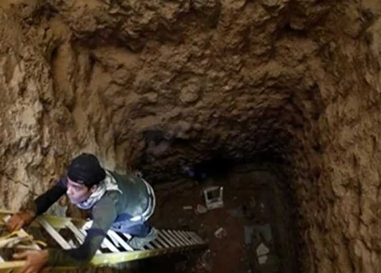 تروریست های داعش در تونل های موصل به دام افتادند