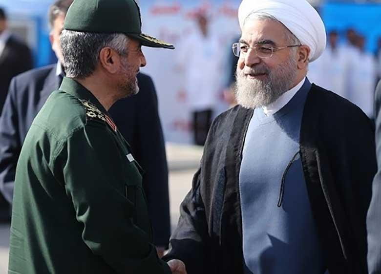 مجموعه سپاه دکتر روحانی را رییس جمهوری قانونی کشور می داند