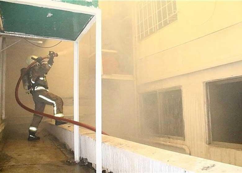 انفجار یک ساختمان مسکونی در ملاصدرا