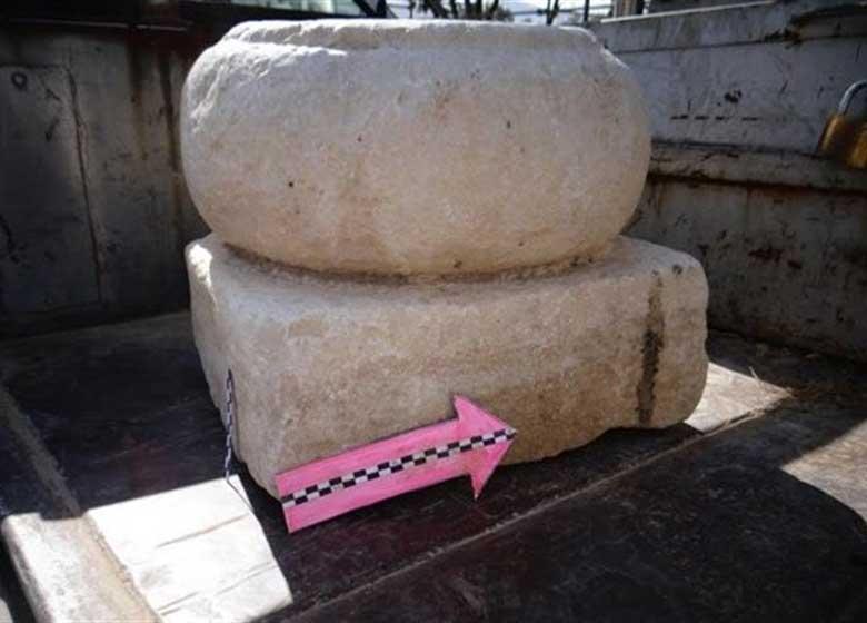 کشف ستون تاریخی ساسانی در یک خانه