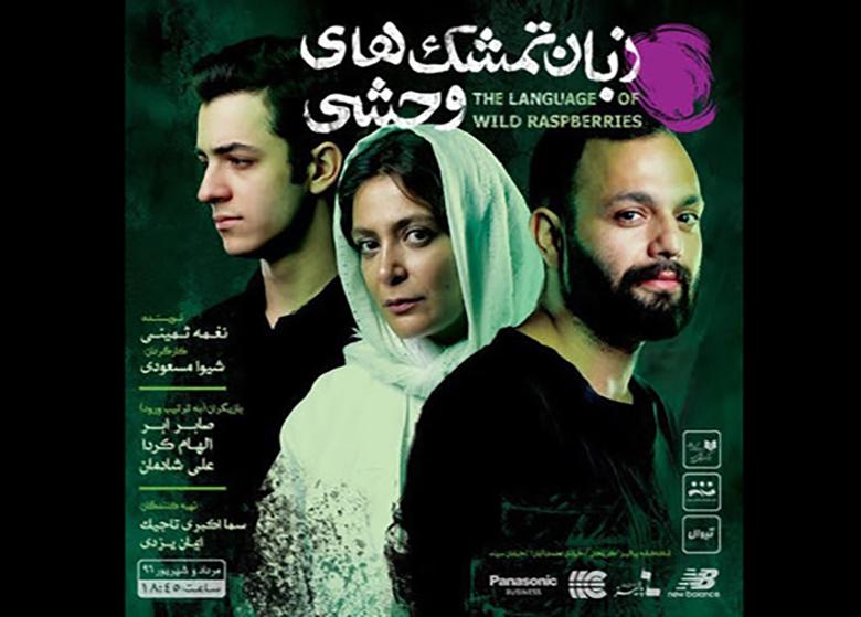 صابر ابر، الهام کردا و علی شادمان در «زبان تمشکهای وحشی»