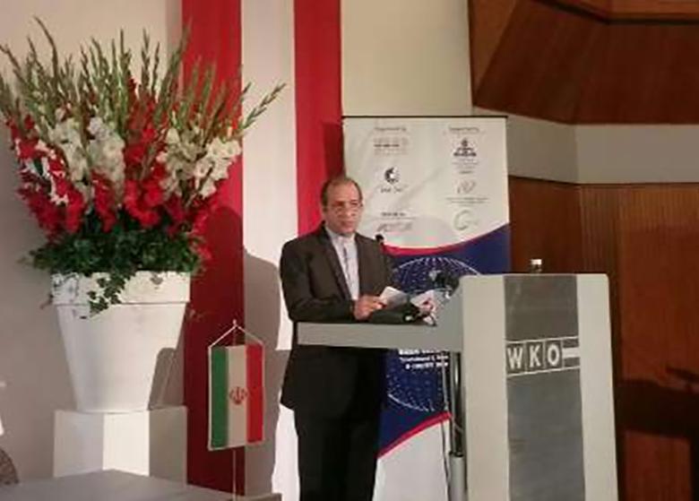سفیر ایران در اتریش: جمهوری اسلامی قطب الهام بخش فعالیت های اقتصادی است
