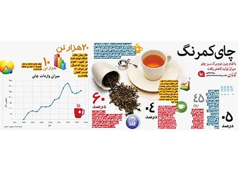 میزان تولید چای کاهش یافت +اینفوگرافیک