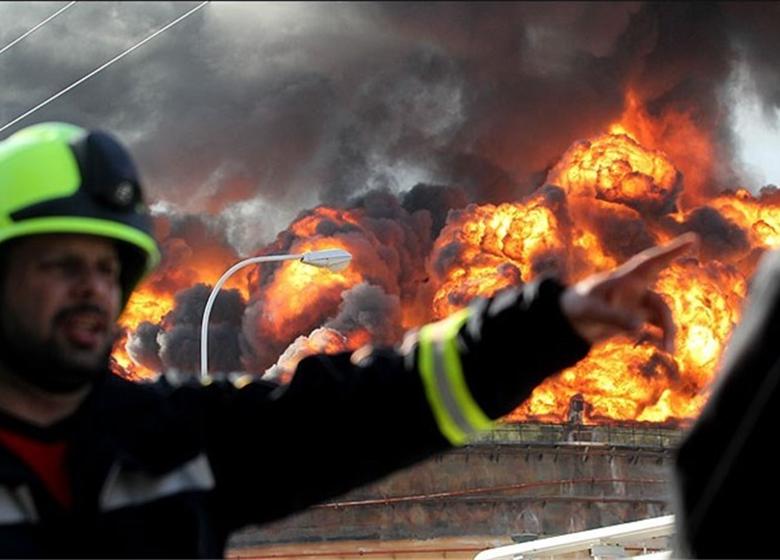 آتش سوزی برق آسا +عکس