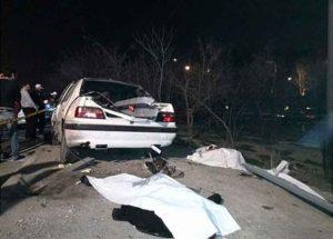 کشته شدن جوان 21 ساله در تصادف بزرگراه رسالت (+عکس)
