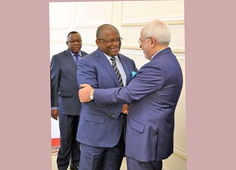 دیدار ظریف با وزیر خارجه آنگولا +عکس