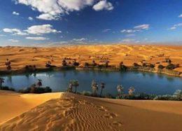 دریاچه ای افسانه ای در دل کویر لیبی